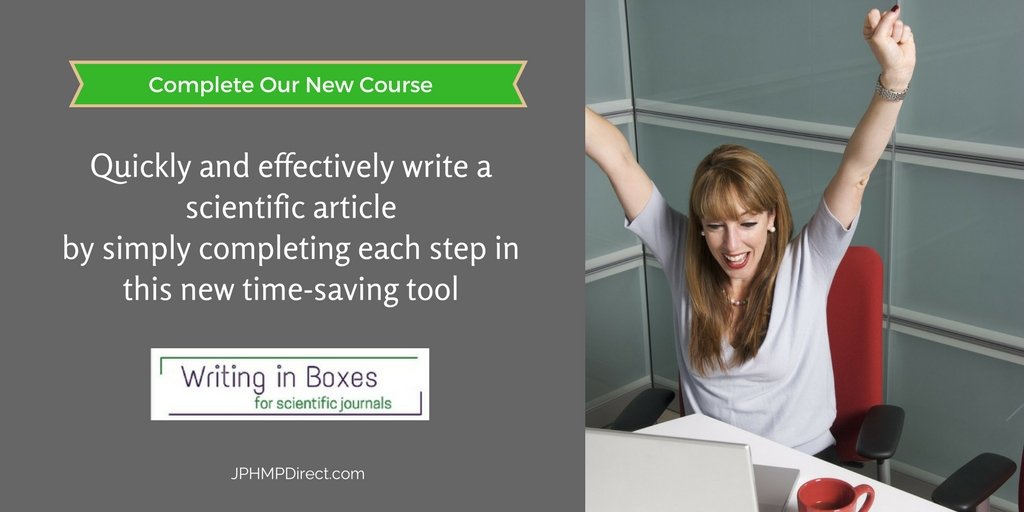 "New ""Writing in Boxes for Scientific Journals"" eLearning Module!"