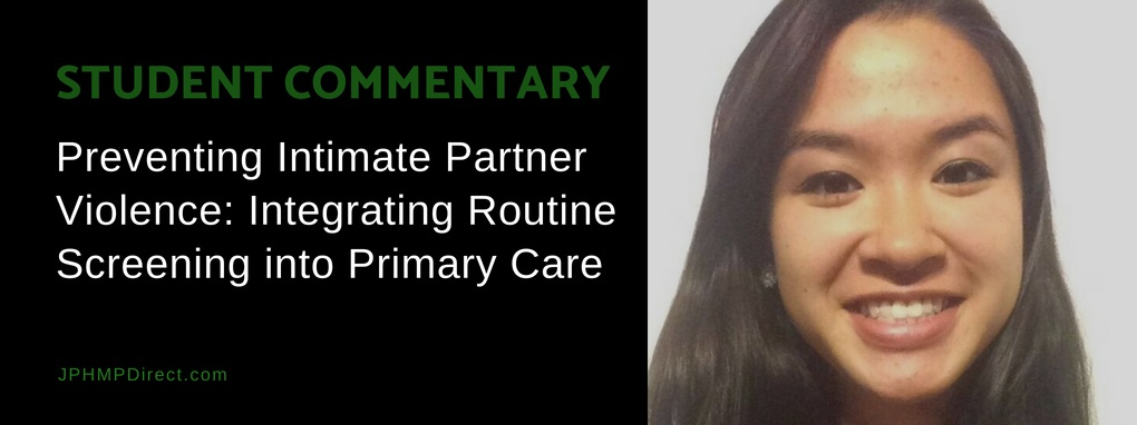 Preventing Intimate Partner Violence: Integrating Routine Screening into Primary Care