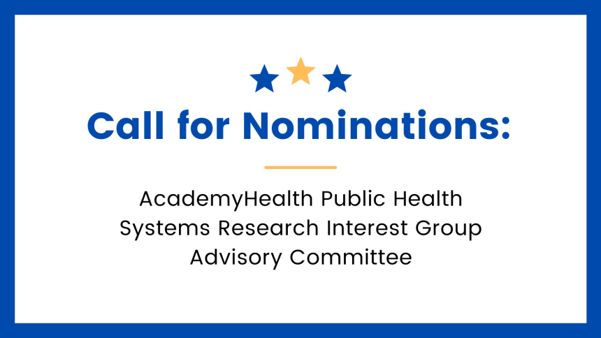 AcademyHealth Call for Nominations