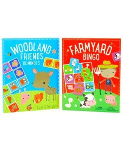 Farmyard Bingo and Woodland Friends Dominoes 2-Set