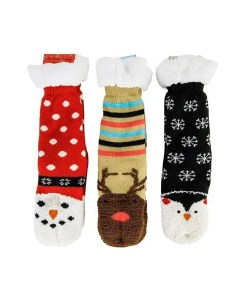 Holiday Slipper Socks - 3 Character Designed Pair
