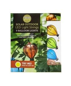Solar Balloon Light String - 9 LED Lights