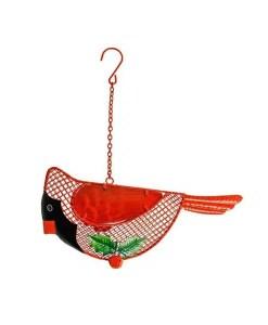 Winter Cardinal Wire Mesh Bird Feeder