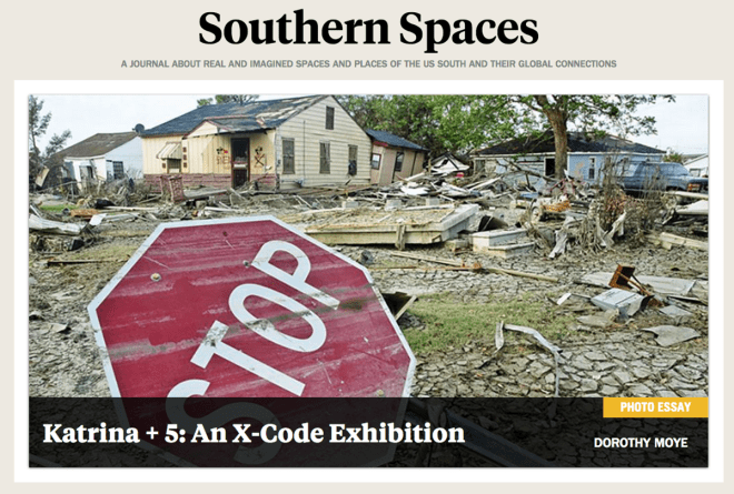 Home page of the redesigned Southern Spaces site. Screen capture courtesy of Southern Spaces.
