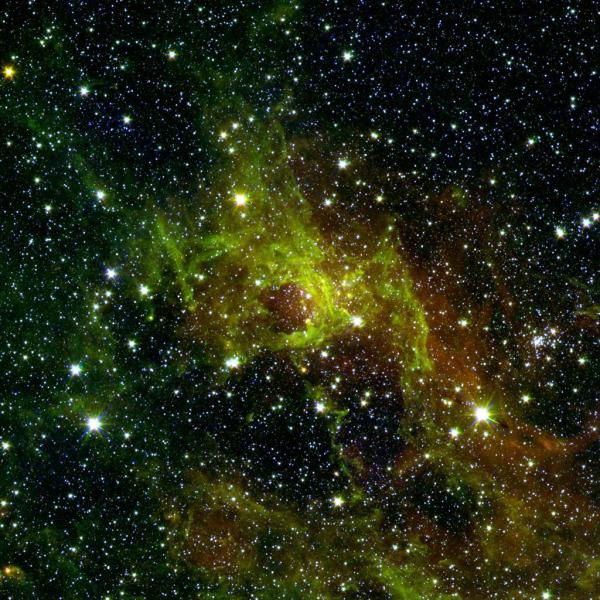 Space Images | Awash in Green and Red