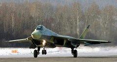 L'avion de chasse Russe T-50
