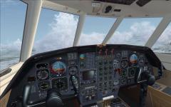 Tableau de bord du Falcon 50 sous FSX