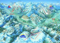 Le ski dans la région de Banff