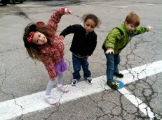 Or get inspired to exercise like K1ers Ella, Armani, and Dylan who practiced their windmills during class game time.