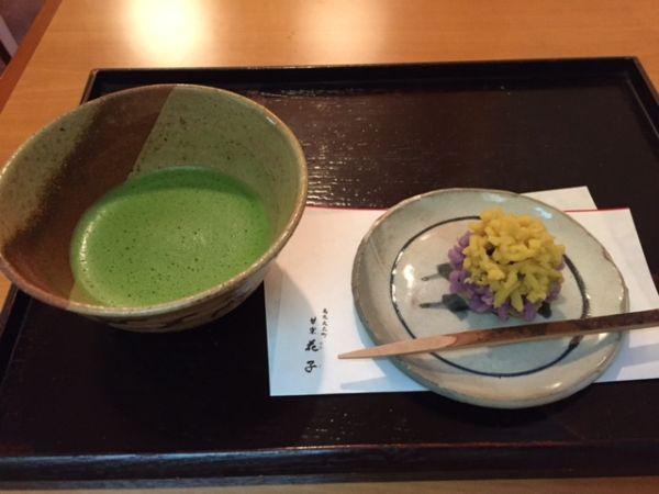 京都・烏丸丸太町 甘楽花子(かんらくはなご) 美味しい和菓子の喫茶