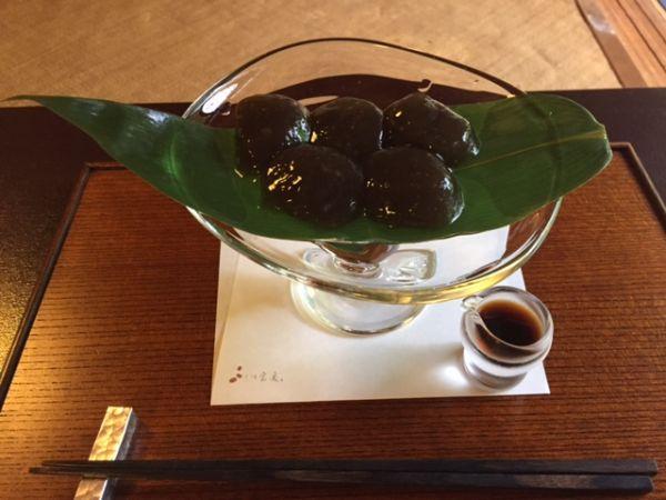 京都 茶寮宝泉のわらび餅