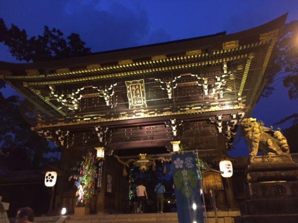 京の七夕 北野天満宮でライトアップ 2016