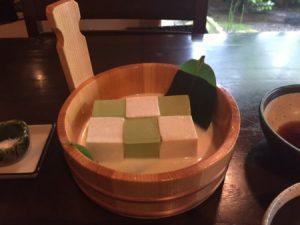 豆腐料理 松ヶ枝 抹茶豆腐