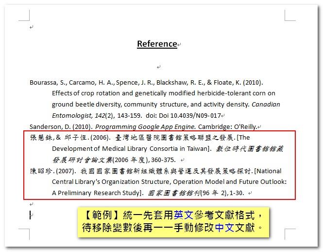 中文參考文獻格式 | 臺大圖書館參考服務部落格