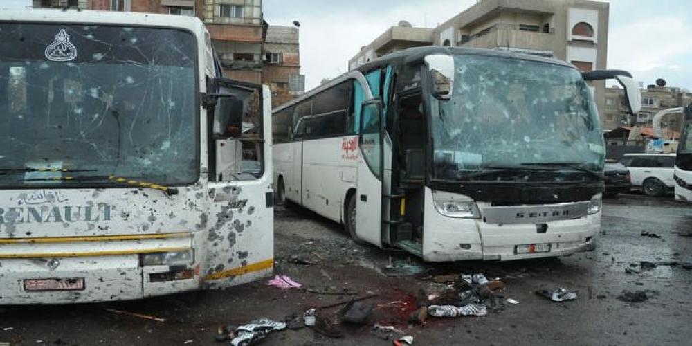 تفجير إرهابي في منطقة باب مصلى في العاصمة دمشق