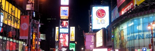 Times Square Banner