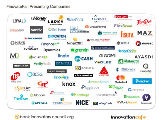 FinovateFall Presenting Companies