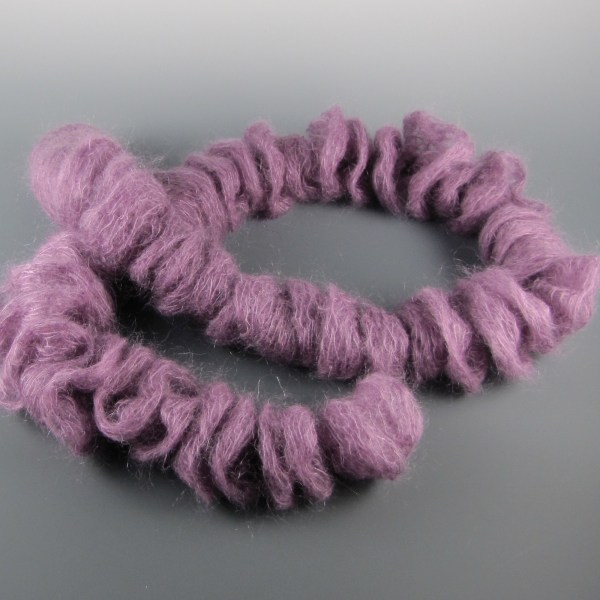 Hand Knit Silk Kid Mohair Scarf Berry