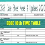 cbse 10th exam date 2020