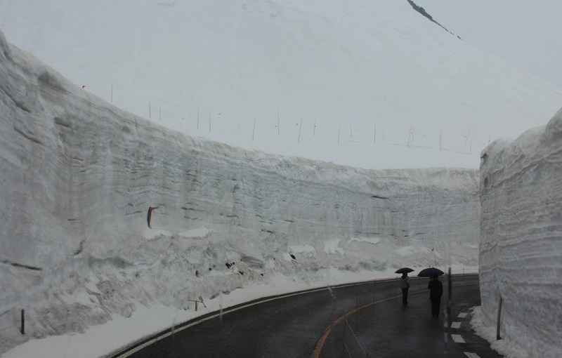 Tateyama-Kurobe Alpine Route, one of most spectacular sightseeing route in Northern Japan Alps