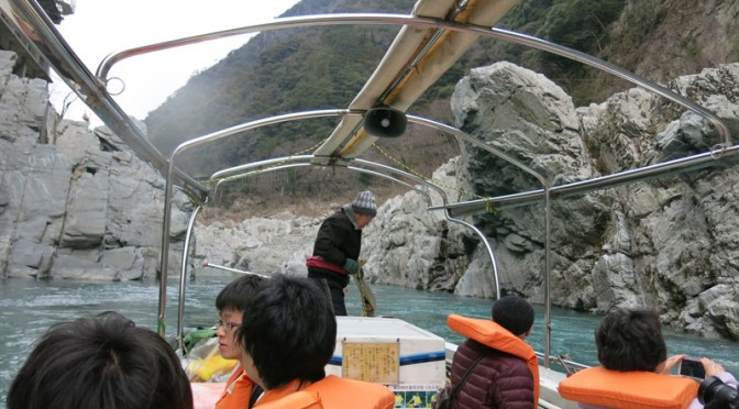 Trip to Shikoku in 2015 spring – Part 6, visiting Oboke gorge and riding Anpanman train.