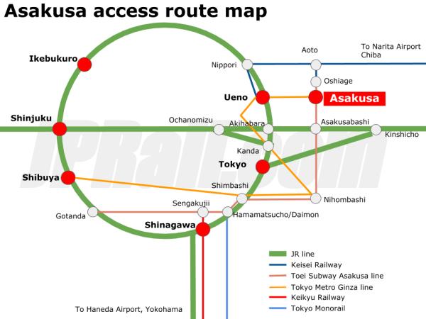 Asakusa route map