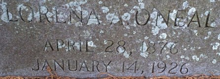 "Headstone marking burial of my Great Great Grandmother, ""Lora"" Lorena Amanda O'NEAL Rivers, Magnolia Cemetery, Charleston, South Carolina"