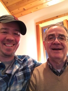 "Me (""Jay"" Jonathan Parrish Rivers) and my dad, ""Jim"" James Calvin Rivers, Christmas 2017"