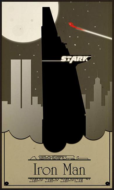 illustration geek art iron man