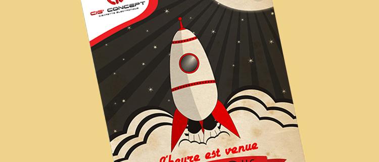 Création d'un flyer rétro/vintage pour Cig Concept