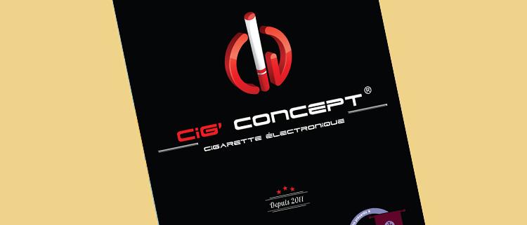 Création d'un flyer pour Cig Concept