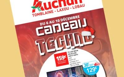 Création de supports print pour Auchan
