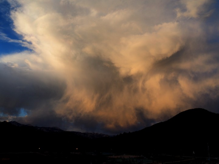 Clouds above the Rocky Mountains. Photo taken at the Colorado Christian Mountains Retreat