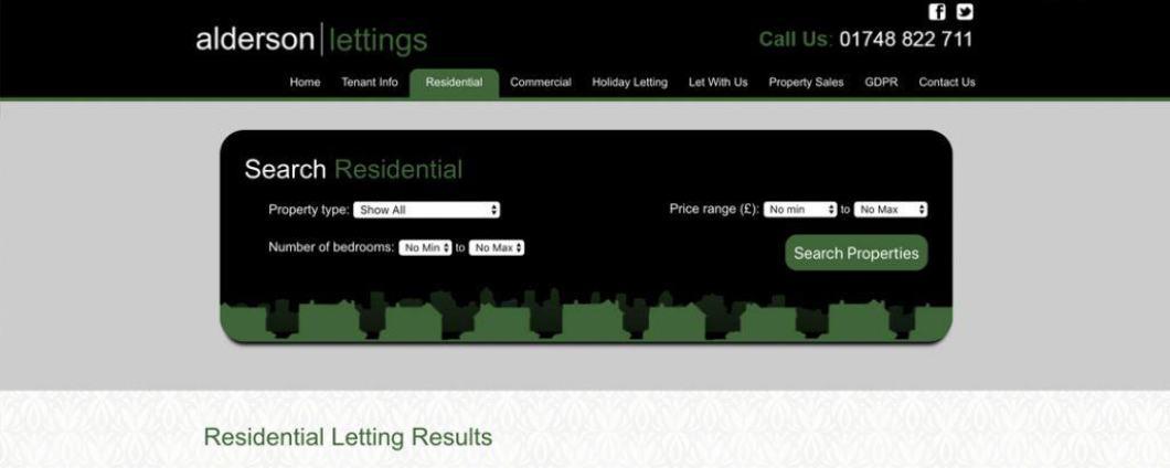 Alderson Lettings Residential Search