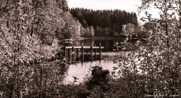 Fiskebrygge ved Tøsdalsvannet i Os.