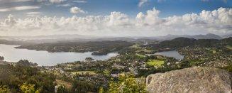 Utsikten mot Fana sett fra Fanafjellet.