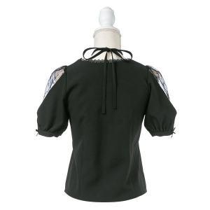 日本 夢展望 白色 淺藍色 透視 5分袖 中袖 上衣 top