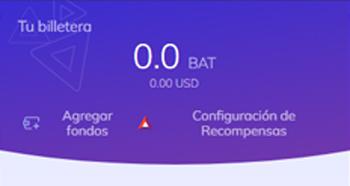 la billetera de brave mostrará tu saldo en BAT