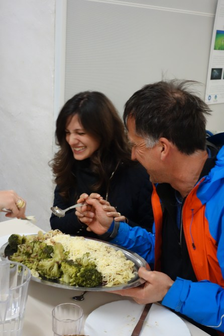 JP and Alessandra, clearly enjoying the food