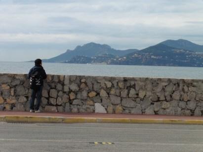 Satoshi taking in the scenery