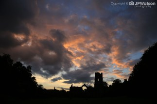 An Eerie Evening At Fountains Abbey