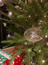 Pottery Barn: Lit Twist Glass Ornament