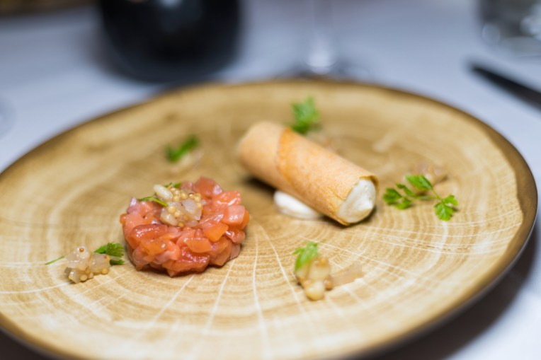 Trout tartare
