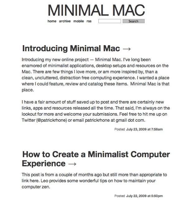 Minimal Mac by @patrickrhone