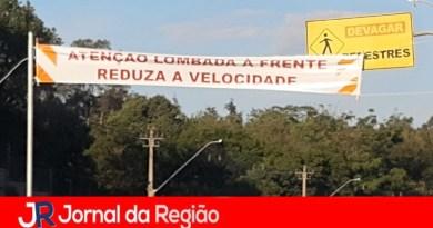 Prefeitura reforça sinalização em lombada