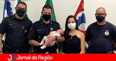 Guardas de Várzea salvam bebê engasgada
