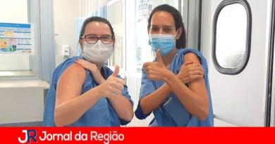 Profissionais do Hospital São Vicente aguardam a Vacina