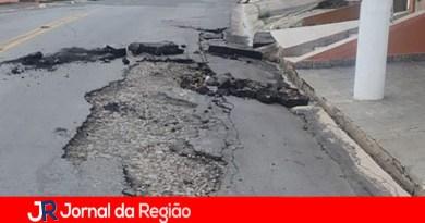 Leitor reclama do asfalto em Campo Limpo Paulista