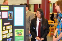 Students presented their apprenticeship projects to guests.