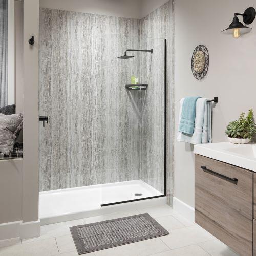 Quartz Tub to Shower Conversion